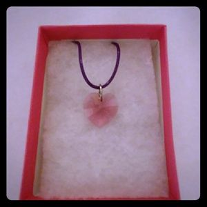 Jewelry - Passion Rose Crystal Heart Necklace